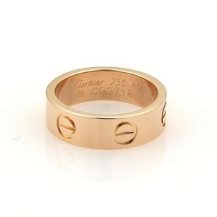 Cartier Cartier Love 18k Rose Gold 5.5mm Wide Band Ring 49 - Wcert.