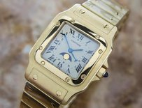 Cartier Cartier Luxurious Santos Date And Moonphase 18k Solid Gold Mens Watch C2006 H1