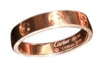 Cartier Cartier Mini Love 18k Yellow Gold 4mm Band Ring