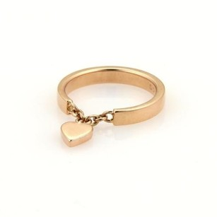 Cartier Cartier Mon Amor Heart Charm 18k Rose Gold 2.5mm Band Ring Eu 47-us