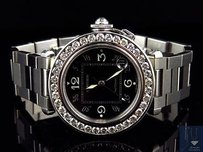 Cartier Cartier Pasha Mm Round Black Automatic Diamond Watch With Ct Ref 2324