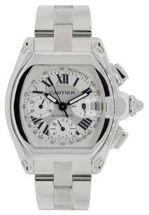Cartier Cartier Roadster XL Chronograph Stainless Steel Watch Silver Dial W62019X6