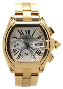 Cartier Cartier Roadster XL Chronograph W62021Y2 18K Yellow Gold Men's Watch