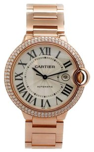 Cartier Cartier Rose Gold Diamond Bezel Ballon Bleu Automatic Wristwatch