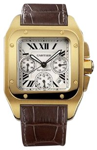 Cartier Cartier Santos 100 18kt Yellow Gold XL Chronograph Mens Watch W20096Y1