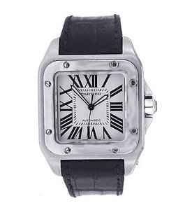 Cartier Cartier Santos - - Stainless Steel - Leather Band- W20073x8