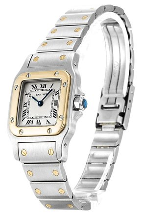 Cartier CARTIER SANTOS W20012C4 STEEL AND YELLOW GOLD LADIES WATCH
