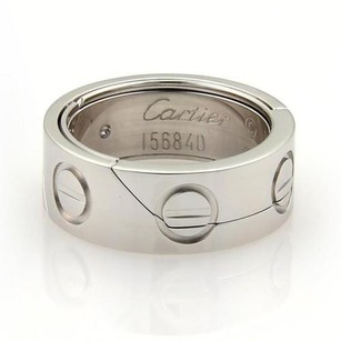 Cartier Cartier Secret Astro Love 18k White Gold Band Ring Eu 49 -