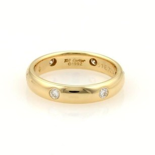 Cartier Cartier Stella Diamonds 18k Ygold 4mm Wide Band Ring Eu 51-us 5.75
