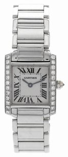 Cartier Cartier Tank Francaise 18K White Gold White Dial Ladies Watch