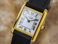 Cartier Cartier Tank Ladies Must De Cartier Swiss Made 925 Silver Dress Watch C2000 P8