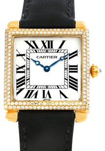 Cartier Cartier Tank Obus 18k Yellow Gold Diamond Watch