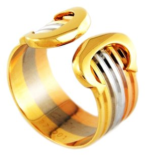 Cartier Cartier Ladies Tri-color 18k Gold Double C Ring 976001
