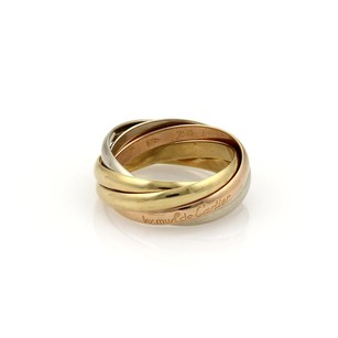 Cartier Cartier TRINITY 18k Gold 3mm 5 Rolling Band Ring Size EU 54-US 7