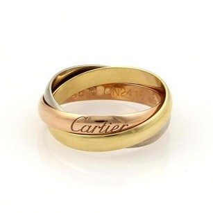 Cartier Cartier Trinity 18k Tri-color Gold Rolling Band Ring 2.5mm Eu 46-us Cert.