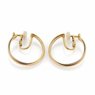 Cartier Cartier Trinity 18k Tri-color Gold Screw Back Hoop Earrings