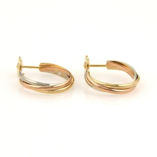 Cartier Cartier Trinity 18k Tri-color Gold Semi Hoop Earrings