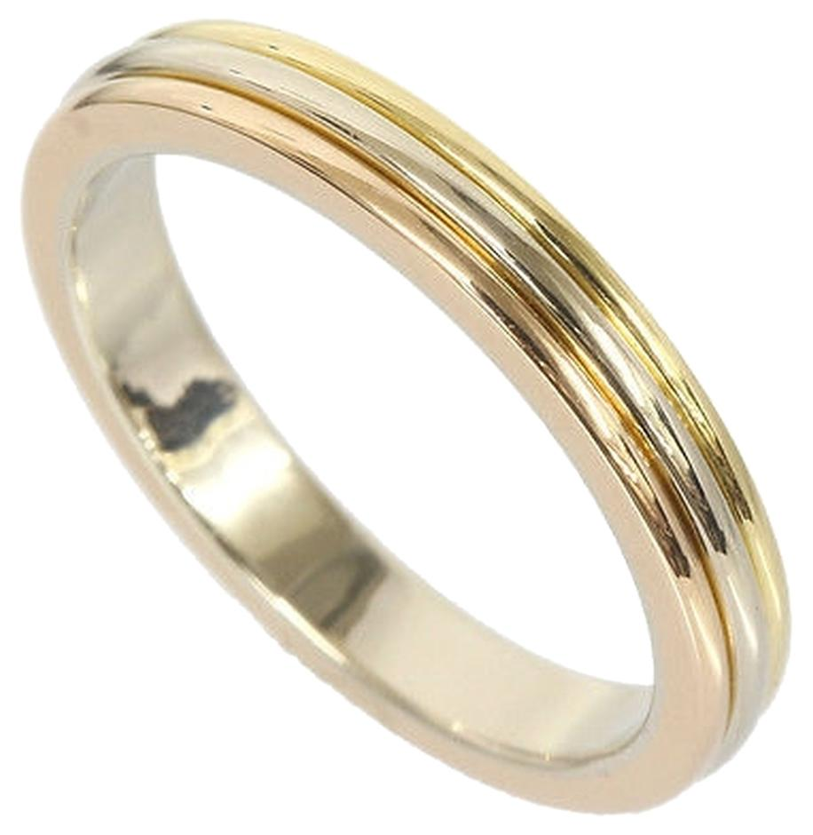 cartier wedding band 18k three gold ring b4052266
