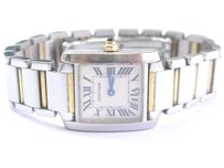 Cartier Ladies Cartier Tank Francaise 2384 18k Gold And Stainless Steal Two-tone Quartz
