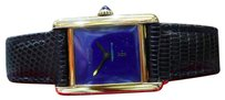 Cartier Cartier Must De Cartier Tank Vermeil Yellow Gold Blue Lapis Lazuli Dial Watch