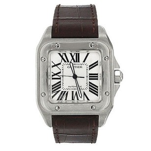 Cartier Cartier Watch - Santos - Brown Leather Band