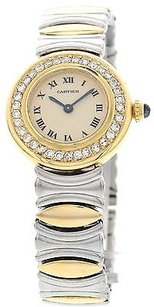 Cartier Ladies Cartier Baignoire 18k Yellow Gold Stainless Steel