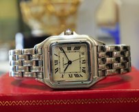 Cartier Ladies Cartier Panther Panthere Ref 1310 Stainless Steel Roman Numeral Watch