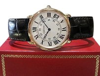 Cartier Mens Cartier Ronde Louis 18k Rose Gold Ref. 2889 Roman Numeral Markers Watch