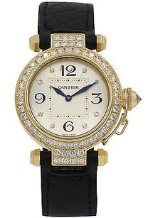 Cartier Mens Pasha De Cartier 18k Yellow Gold Factory Diamonds 2811