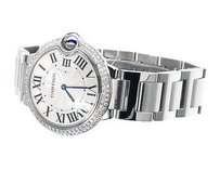 Cartier Mid Mm Cartier Ballon Bleu W69011z4 Quartz Diamond Watch With Ct