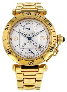 Cartier Pasha 38mm 2395 Power Reserve Automatic Men's Watch in 18k Yellow Gold CRTPY36