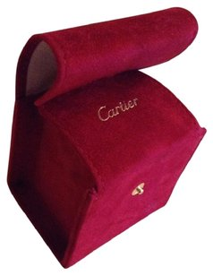 Cartier Cartier Empty Watch Jewelry Bracelet Box Travel Red Suede Leather