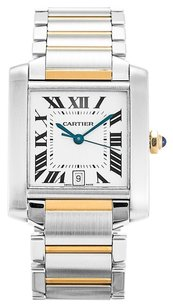 Cartier CARTIER TANK FRANCAISE W51005Q4 STEEL AND YELLOW GOLD LADIES WATCH