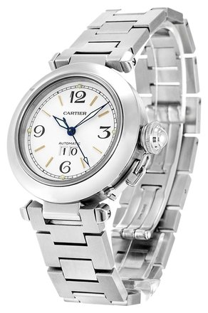 Cartier CARTIER PASHA W31044M7 STAINLESS STEEL MIDSIZE WATCH