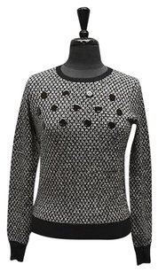 Carven A6 Black White Studded Sweater
