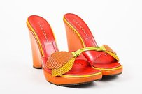 Casadei Orange Pink Yellow Orange, Pink, Yellow, Green Sandals