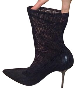 Casadei Sexy Fishnet Mesh Spikes Black Boots