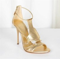 Casadei Womens Trikini Gold Pumps