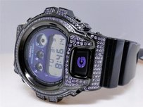Casio Mens G Shock G-shock Purple Simulated Diamond Watch Dw6900mf-1
