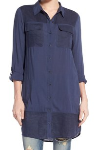 Caslon 3/4 Sleeve Button Down Shirt Top