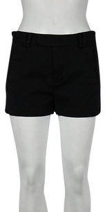 Catherine Malandrino Womens Textured Cut Out Casual Shorts Black
