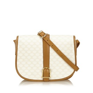 Cline Brown Ivory Leather Shoulder Bag