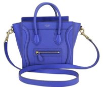 Cline Celine Leather Tote in Nano Blue