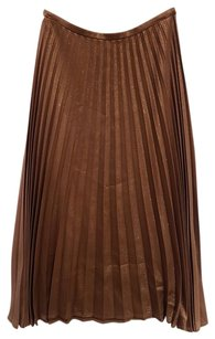 Cline Evening Night Out Classic Skirt Brown Bronze