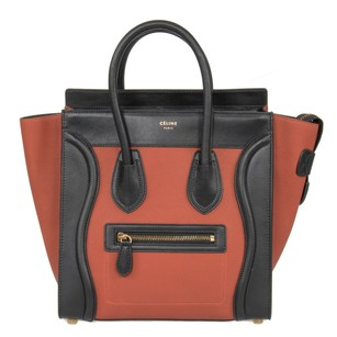 Céline Luggage Micro Calfskin Tote in Tri-Color