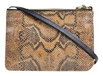 Céline Black Python Lambskin Leather Small Trio Cross Body Bag