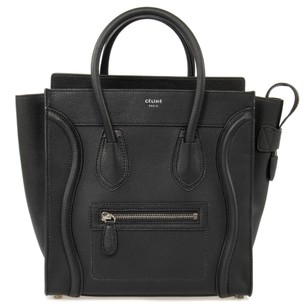 Cline Pebbled Leather Classic Calfskin Tote in Black