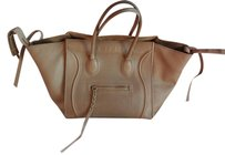 Céline Phantom Nude Pebbled Leather Tote in Beige