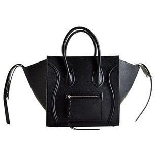 Cline Satchel in black, silver hardware