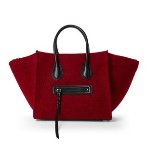 Céline Satchel in Red & Black